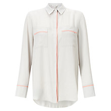 Buy Miss Selfridge Longline Tipping Shirt, Grey Online at johnlewis.com
