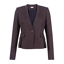 Buy Hobbs Lizzie Jacket, Navy Camel Online at johnlewis.com
