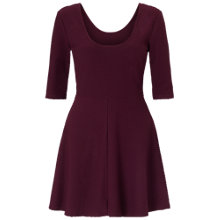 Buy Miss Selfridge Textured Skater Dress, Purple Online at johnlewis.com