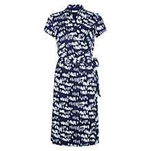 Buy Hobbs Ivy Wrap Dress, Navy/Ivory Online at johnlewis.com