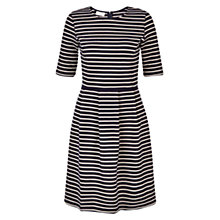 Buy Hobbs Ellie Jersey Dress, Navy Oatmeal Online at johnlewis.com