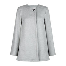 Buy Hobbs Myra Coat, Pale Grey Online at johnlewis.com