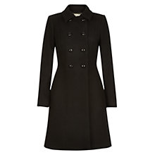 Buy Hobbs Fonda Coat, Black Online at johnlewis.com