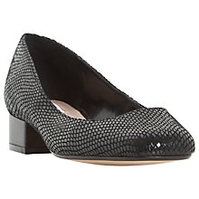 Buy Dune Alanah Block Heeled Court Shoes, Black Reptile Online at johnlewis.com