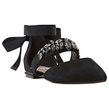 Buy Dune Hayze Embellished Strap Two Part Pumps, Black Online at johnlewis.com