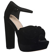 Buy KG by Kurt Geiger Jackpot Occasion Platform Block Heeled Sandals, Black Online at johnlewis.com