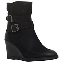 Buy KG by Kurt Geiger Rhona Wedge Heeled Ankle Boots, Black Online at johnlewis.com