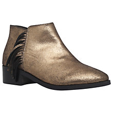 Buy KG by Kurt Geiger Shimmy Flat Ankle Boots, Gold Online at johnlewis.com