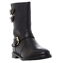 Buy Dune Rowen Biker Ankle Boots, Black Online at johnlewis.com