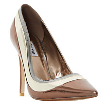 Buy Dune Bronza Pointed Toe Court Shoes, Metallic Online at johnlewis.com