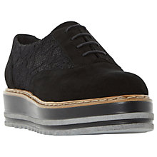 Buy Dune Follow Flatform Brogues, Black Online at johnlewis.com