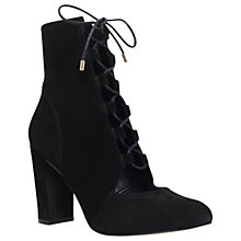Buy KG by Kurt Geiger Hilly Occasion Suede Ankle Boots, Black Online at johnlewis.com