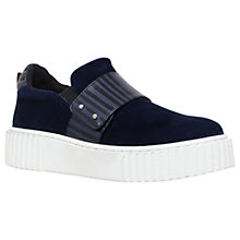 Buy KG by Kurt Geiger Lyric Flatform Trainers, Navy Online at johnlewis.com