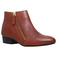 Buy KG by Kurt Geiger Sally Flat Ankle Boots, Tan Online at johnlewis.com