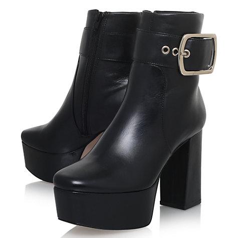KG Kurt Geiger Tulip Leather Ankle Boots, Black   Leather
