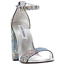 Buy Steve Madden Carrson High Block Heel Two Part Sandals, Glitter Multi Online at johnlewis.com