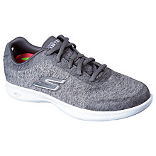 Buy Skechers Step Lite Beam Lace Up Trainers, Grey Online at johnlewis.com