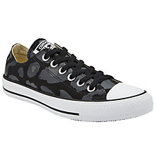 Buy Converse Chuck Taylor All Star Leopard Print Ox Trainers, Sharkskin Online at johnlewis.com