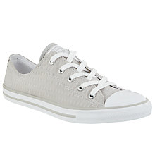 Buy Converse Chuck Taylor All Star Dainty Textured Trainers, Ash Grey Online at johnlewis.com