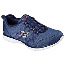 Buy Skechers Microburst On Edge Slip On Trainers, Navy Online at johnlewis.com