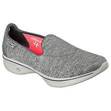 Buy Skechers Go Walk 4 Achiever Trainers, Grey Online at johnlewis.com