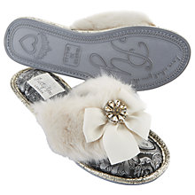 Buy Pretty You London Saffron Embellished Toe Post Slippers, Cream Online at johnlewis.com