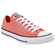 Buy Converse Chuck Taylor All Star Textile Trainers, Ultra Red Online at johnlewis.com
