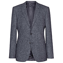 Buy Reiss Turner Flecked Slim Blazer, Charcoal Online at johnlewis.com