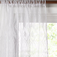 Buy John Lewis Tangier Slot Top Voile Panel, White Online at johnlewis.com