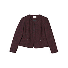 Buy Precis Petite Boucle Jacket, Dark Red Online at johnlewis.com