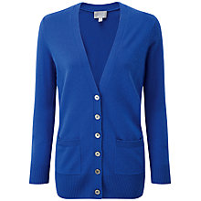 Buy Pure Collection Savoy Cashmere Boyfriend Cardigan, Deep Blue Online at johnlewis.com