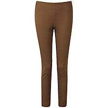 Buy Pure Collection Deborah Cotton Stretch Trousers, Walnut Online at johnlewis.com