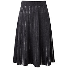 Buy Pure Collection Leanna Knitted Skirt, Heather Charcoal/Iced Grey Online at johnlewis.com