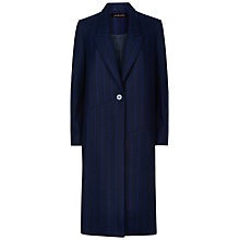 Buy Jaeger Shifted Pinstripe Coat, Navy Online at johnlewis.com