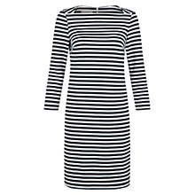 Buy Hobbs Sasha Stripe Dress, Navy White Online at johnlewis.com