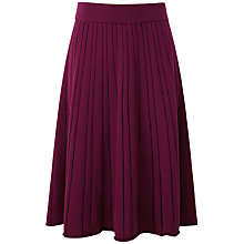 Buy Pure Collection Mallory Knitted Skirt, Rich Berry/Black Online at johnlewis.com