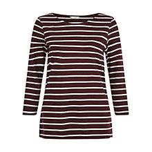 Buy Hobbs Erin Top, Bordeaux Ivory Online at johnlewis.com