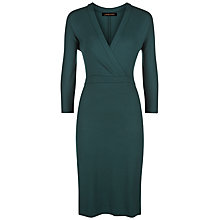 Buy Jaeger Jersey Wrap Dress, Green Online at johnlewis.com