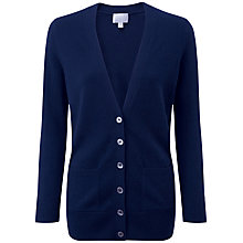 Buy Pure Collection Blake Boyfriend Cardigan, Navy Online at johnlewis.com