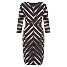 Buy Hobbs Harris Dress, Black/Ivory Online at johnlewis.com