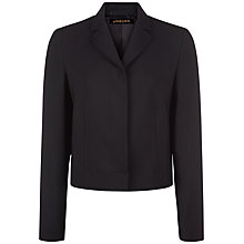 Buy Jaeger Wool Cropped Blazer, Black Online at johnlewis.com