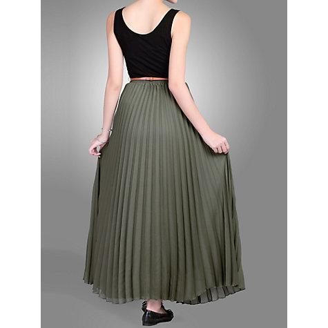 buy moi crepe pleated maxi skirt lewis