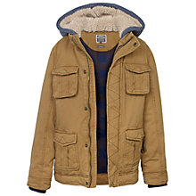 Buy Fat Face Boys' Corfe Canvas Jacket, Toffee Online at johnlewis.com