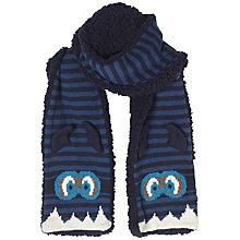 Buy Fat Face Children's Monster Scarf, Navy Online at johnlewis.com