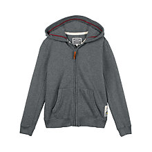 Buy Fat Face Boys' Snowboarding Yeti Graphic Zip Through Hoodie, Charcoal Online at johnlewis.com