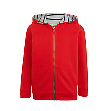 Buy John Lewis Boys' Core Hoodie, Red Online at johnlewis.com