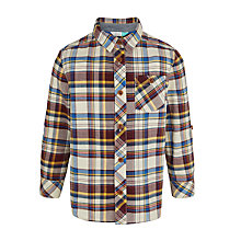 Buy John Lewis Boys' Multi Check Shirt, Burgundy/Multi Online at johnlewis.com