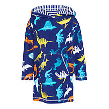 Buy John Lewis Children's Dinosaur Print Poncho, Navy Online at johnlewis.com