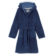 Buy Fat Face Children's Shark Fleece Robe, Storm Blue Online at johnlewis.com