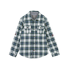 Buy Fat Face Boys' Long Sleeve Worthing Check Shirt, Grey Online at johnlewis.com